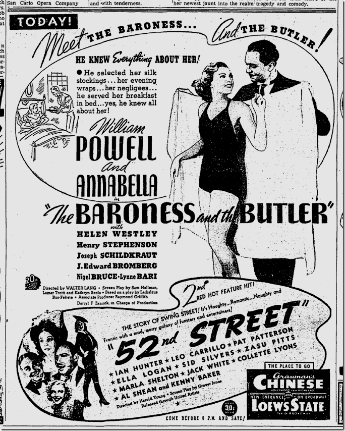 Feb. 23, 1938, Bartoness and the Butler