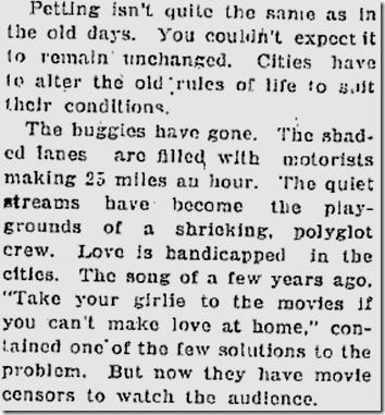 Nov. 5, 1925, Petting