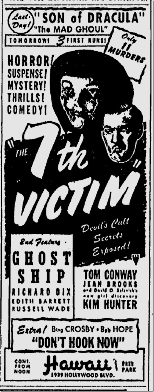 Dec. 22, 1943, The Seventh Victim