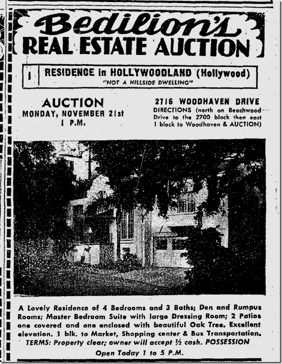 Nov. 20, 1949, property auction