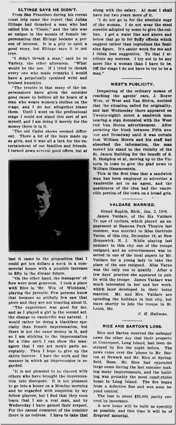 Variety, 1909