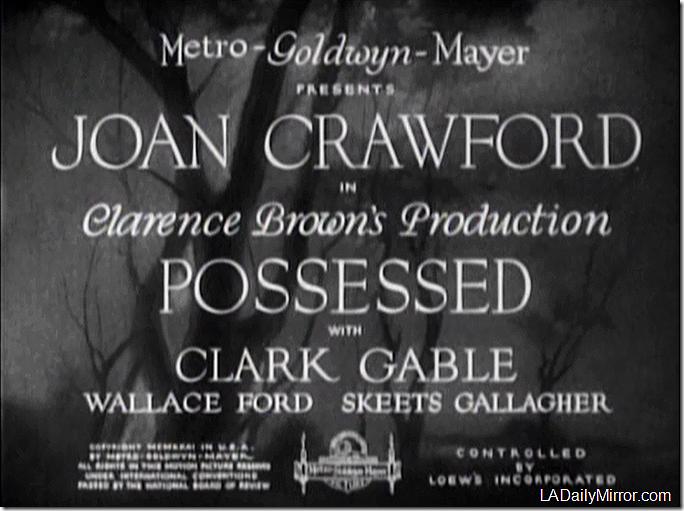 'Possessed' 1931