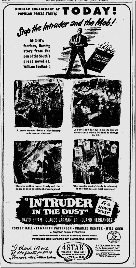 Nov. 11, 1949, Intruder in the Dust