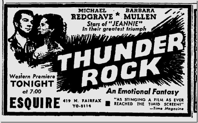Oct. 20, 1944, Thunder Rock