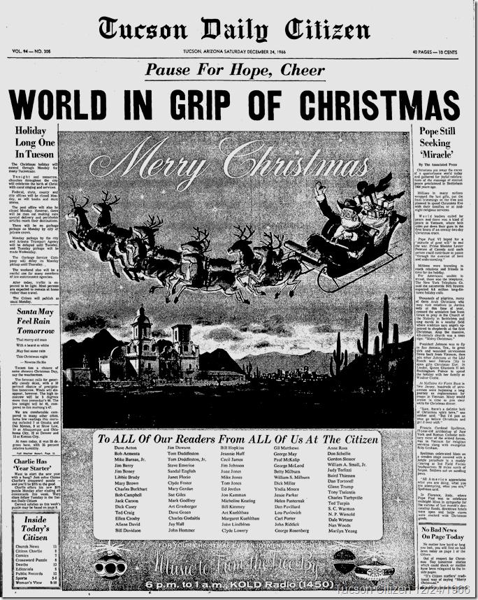 Dec. 24, 1966, Tucson Citizen