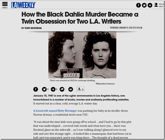 Jan. 12, 2017, Black Dahlia