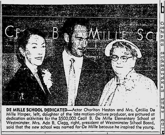 April 29, 1959, DeMille Junior High