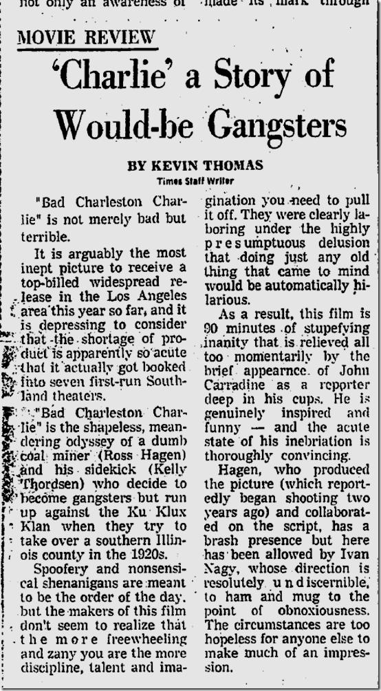 May 10, 1973, Kevin Thomas