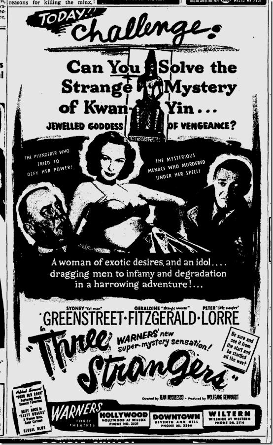 Feb. 8, 1946, Three Strangers
