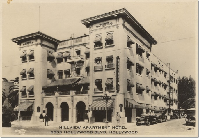 Hillview Apartments, Postcard