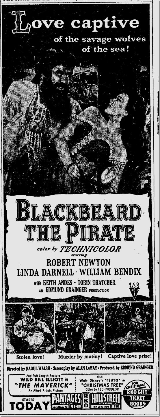 Dec. 24, 1952, Blackbeard the Pirate
