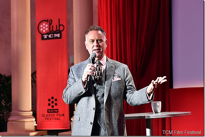 LOS ANGELES, CA - APRIL 09: Author Eddie Muller speaks at the Delta Passholder Breakfast during the 2017 TCM Classic Film Festival on April 9, 2017 in Los Angeles, California. 26657_004 (Photo by Emma McIntyre/Getty Images for TCM)
