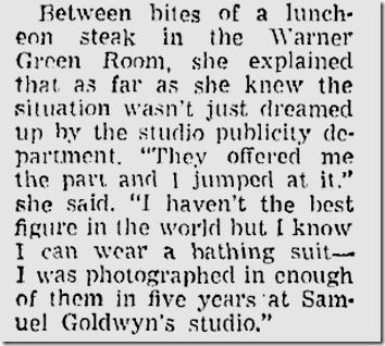 May 9, 1948, Virginia Mayo
