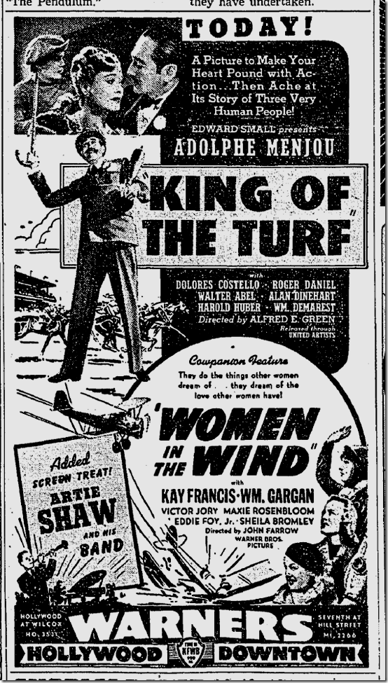 June 8, 1939, Women in the Wind