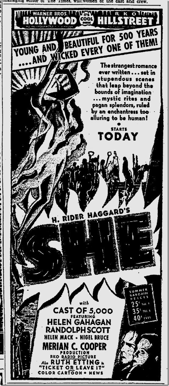 July 25, 1935, She