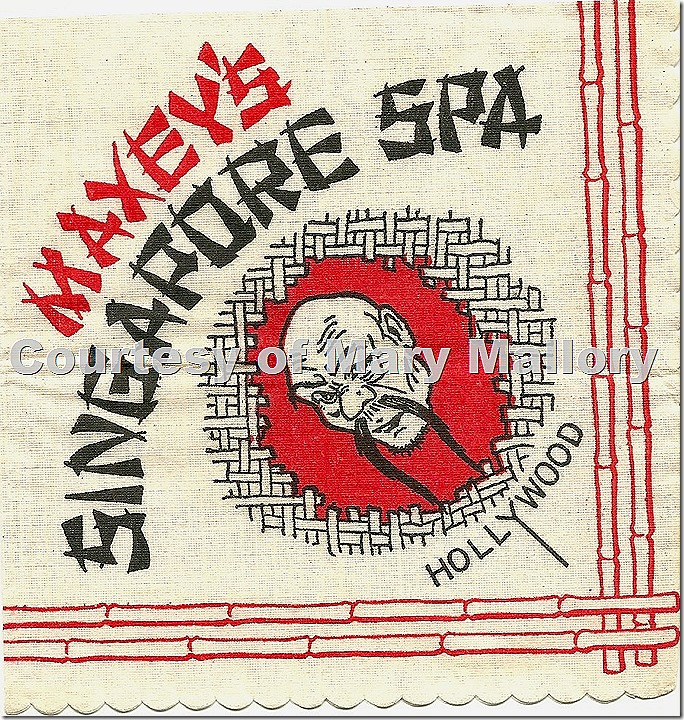Maxey's Singapore Spa napkin