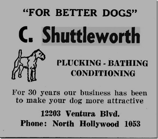 Shuttleworth Kennel Ad 1937-38 SFV Directory