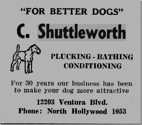 Shuttleworth Kennel Ad 1937-38 SFV Directory