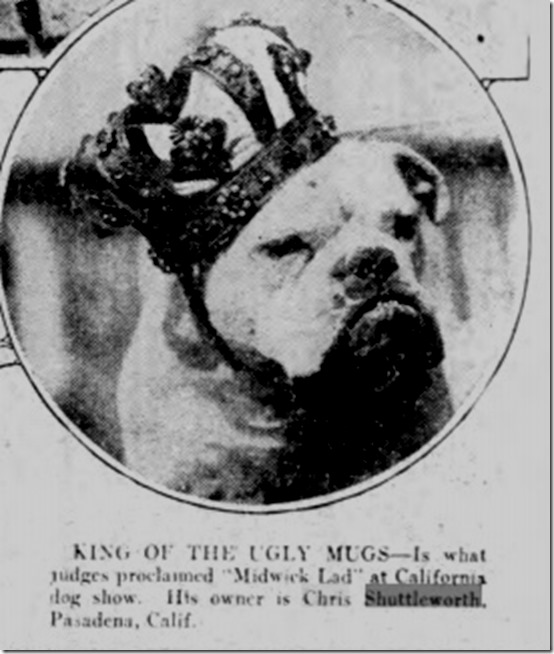 UGLY Dog Elmira 1928
