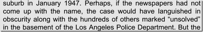 Black Dahlia, Red Rose, Preface