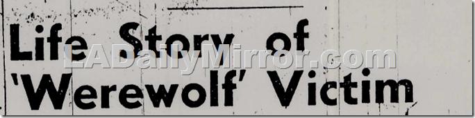 'Werewolf' Victim