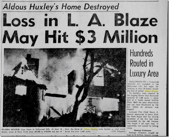Hollywoodland Fire 1961