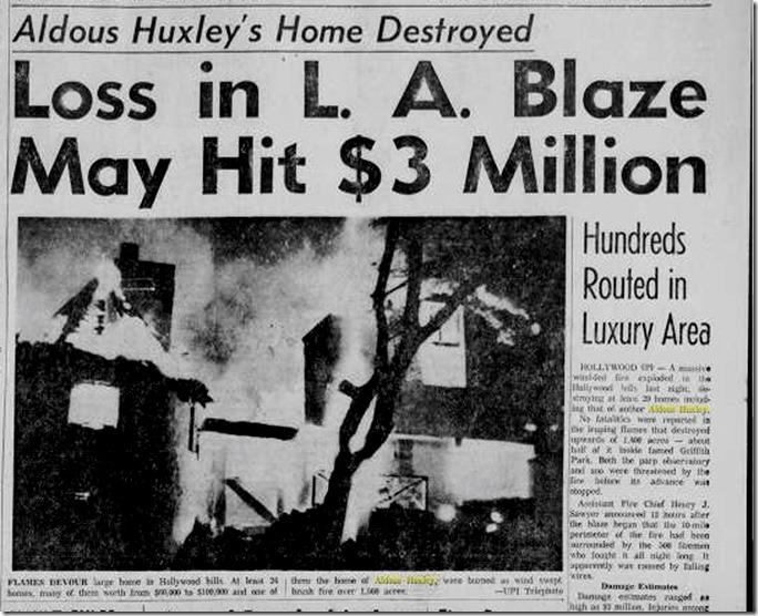 Hollywoodland Fire 1961
