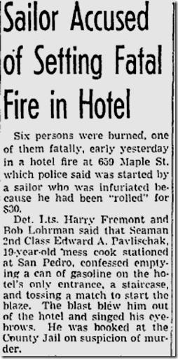 Jan. 4, 1947, Hotel Fire
