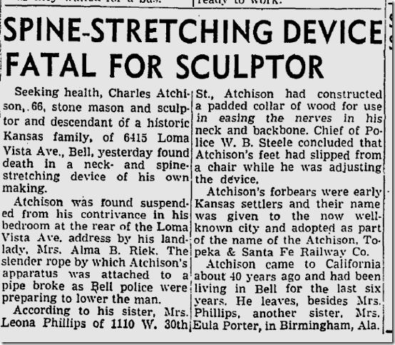 Jan. 6, 1947, Stretching Spine