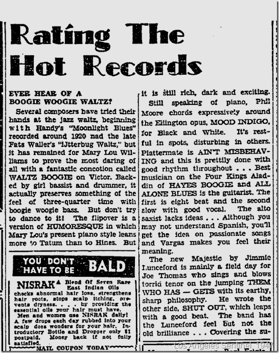 Jan. 2, 1947, Rating the Records