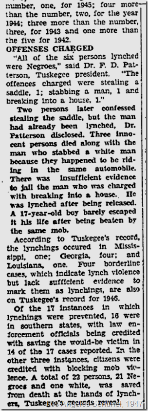 Jan. 9, 1947, Lynchings