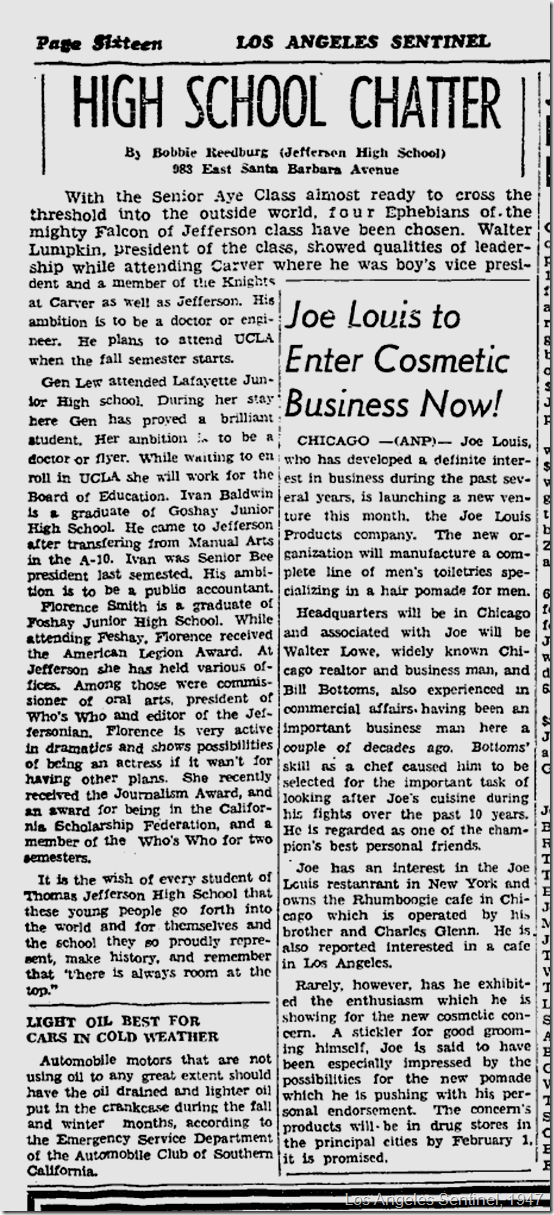 Los Angeles Sentinel, Jan. 9, 1947./