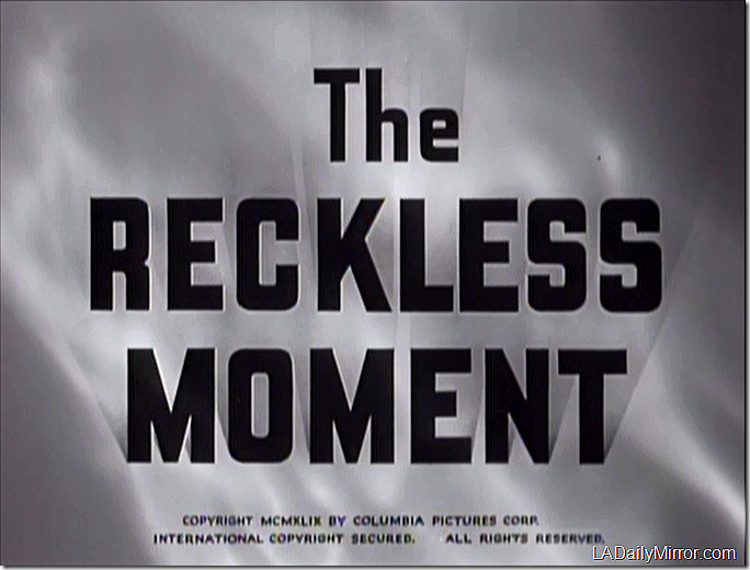 Jan. 20, 2018, The Reckless Moment