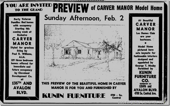 Jan. 30, 1947, Carver Manor