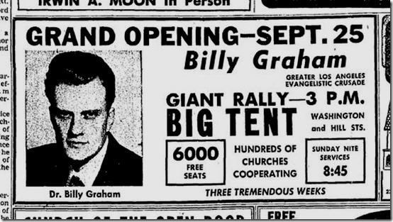 Billy Graham, 1949