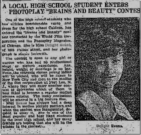 Delight Evans High School Contest