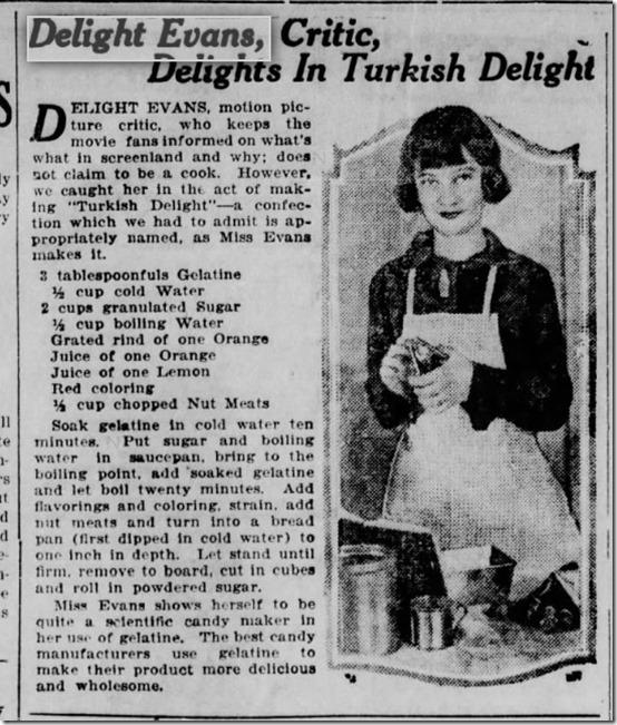 Delight Evans Turkish Delight