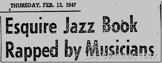Feb. 13, 1947, Esquire Jazz Book