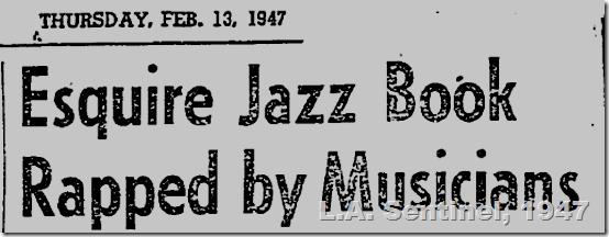Feb. 13, 1947, Esquire Jazz Book