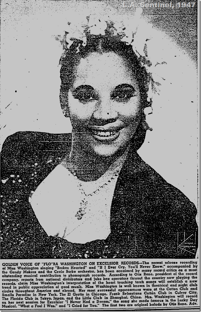 Feb. 13, 1947, Flora Washington