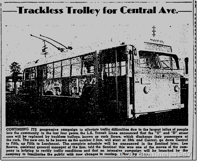Feb. 6, 1947, Trackless Trolley