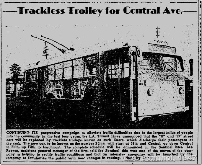 Feb. 6, 1947, Trackless Trolley