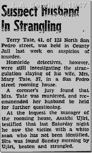 Feb. 27, 1947, Terry Tate
