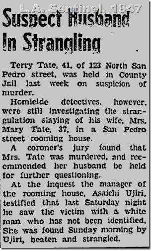 Feb. 27, 1947, Terry Tate