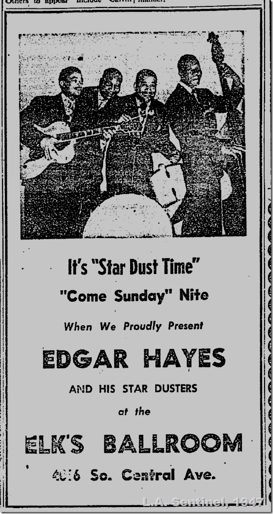 Feb. 27, 1947, Edgar Hayes and His Star Dusters