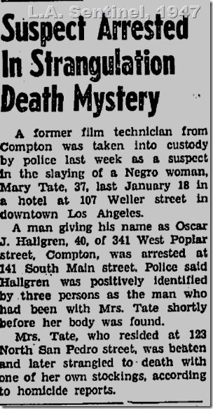 July 24, 1947, Oscar Hallgren