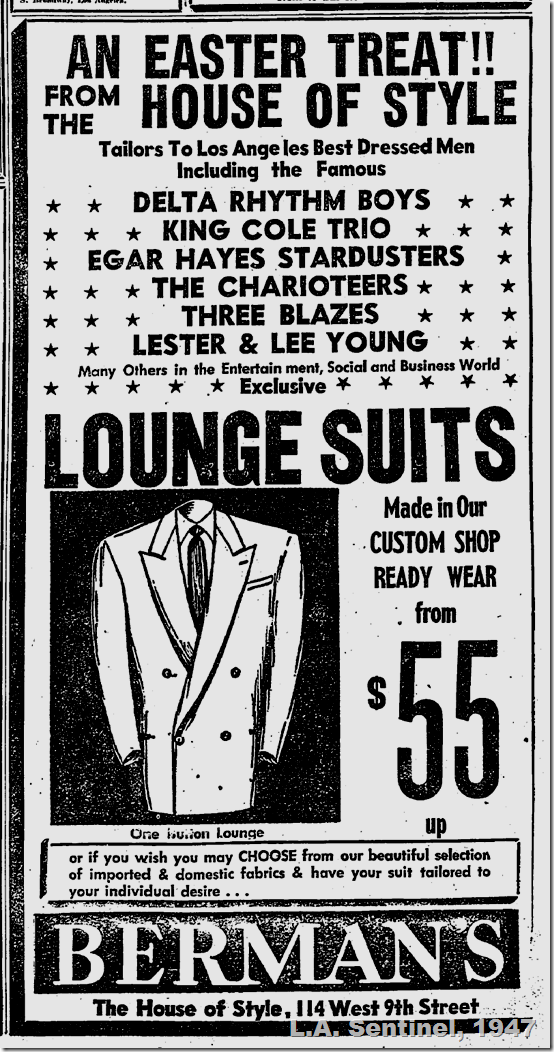 March 27, 1947, Lounge Suits