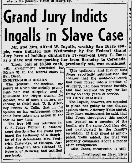 March 27, 1947, Ingalls Slavery Case