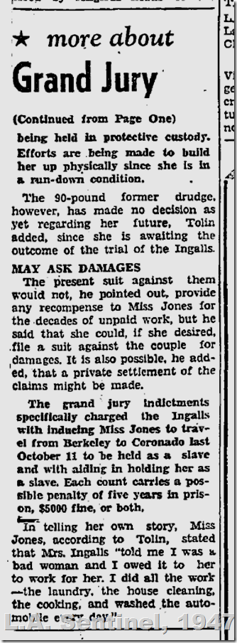 March 27, 1947, Ingalls Slavery Case