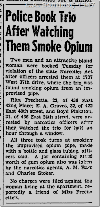 April 3, 1947, Opium Smokers